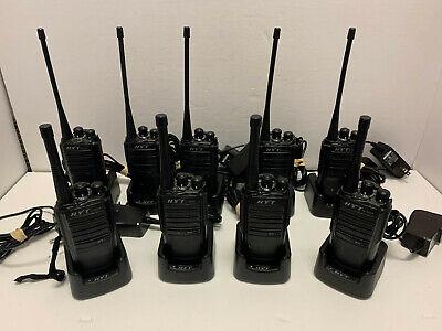 """HYT TC-508U(1) """"Set of 9"""" Two Way Radios 400-470MHz UHF 16 Ch W New Battery"""