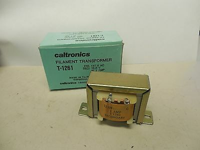 New Caltronics Filament Transformer T-1261 117vac 12.6v Volt 1a A Amp T1261