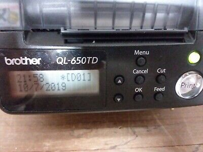 Brother Ql-650td Pc Label Thermal Label Printer P-touch
