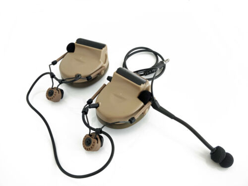Z-Tac Comtac 2 Headset + Tactical ARC Rail Adapters for Combat Helmet