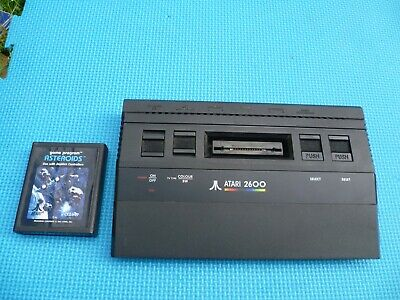 "Black Atari 2600 Junior PAL Console ""Irish"" version (made in Ireland)."
