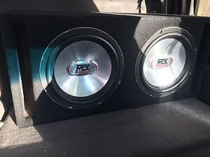 2 12inch mtx subs with box
