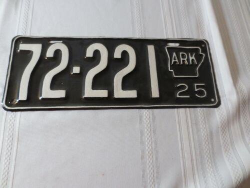 1925 ARKANSAS RESTORED LICENSE PLATE 72-221