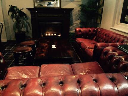 Two antique chesterfield couches
