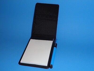 Black Jotter Note Pad 3.5x5 W2 Slots Card Holder Blue Mini Pen Stylus Combo