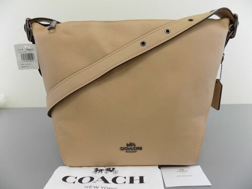 COACH $350 21378 Brown Crossbody Dufflette Leather Shoulder