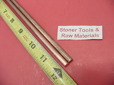 2 Pieces 14 C110 Copper Round Rod 12 Long H04 .250 Cu New Lathe Bar Stock