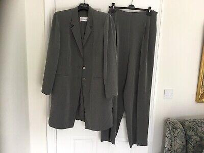 Ladies 'Windsmoor' 2 Piece Trouser Suit, Size 16, Silver Grey