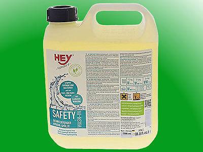 (23,96€/l)   HEY SPORT® Safety Wash-In - 2,5l   Desinfizierender Hygienespüler