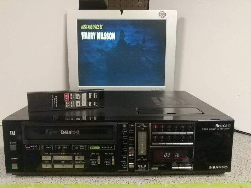 SANYO Model VCR7200 Beta Betamax Stereo Hi-Fi BETACORD With Remote!!! READ!!