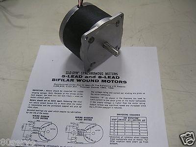 Step Motor 34d-9106a Rapidsyn Nema34 2.9vdc 3.0amps 1.8deg Step Angle 6 Leads