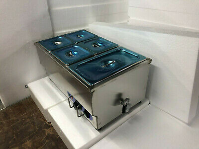 Techtongda 5 Pan Food Warmer Steam Table Countertop Steamer Kitchen Supply New