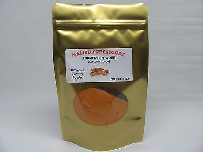 4Oz Turmeric Root Powder 100  Pure Organic  Curcuma Longa  Haldi  Free Shipping