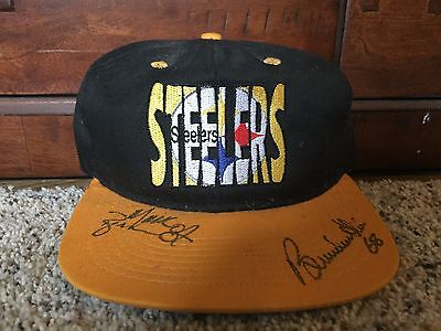 Pittsburgh Steelers Autographed Signed Vintage Hat Cap Brenden Stai Mark Bruener