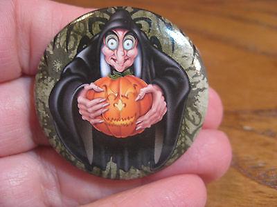 Disney Villians - Evil Witch Button Pin Back