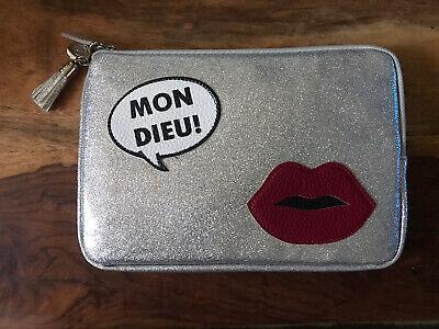 Iphoria Mon Dieu! Silver Clutch Purse/Bag RRP £62