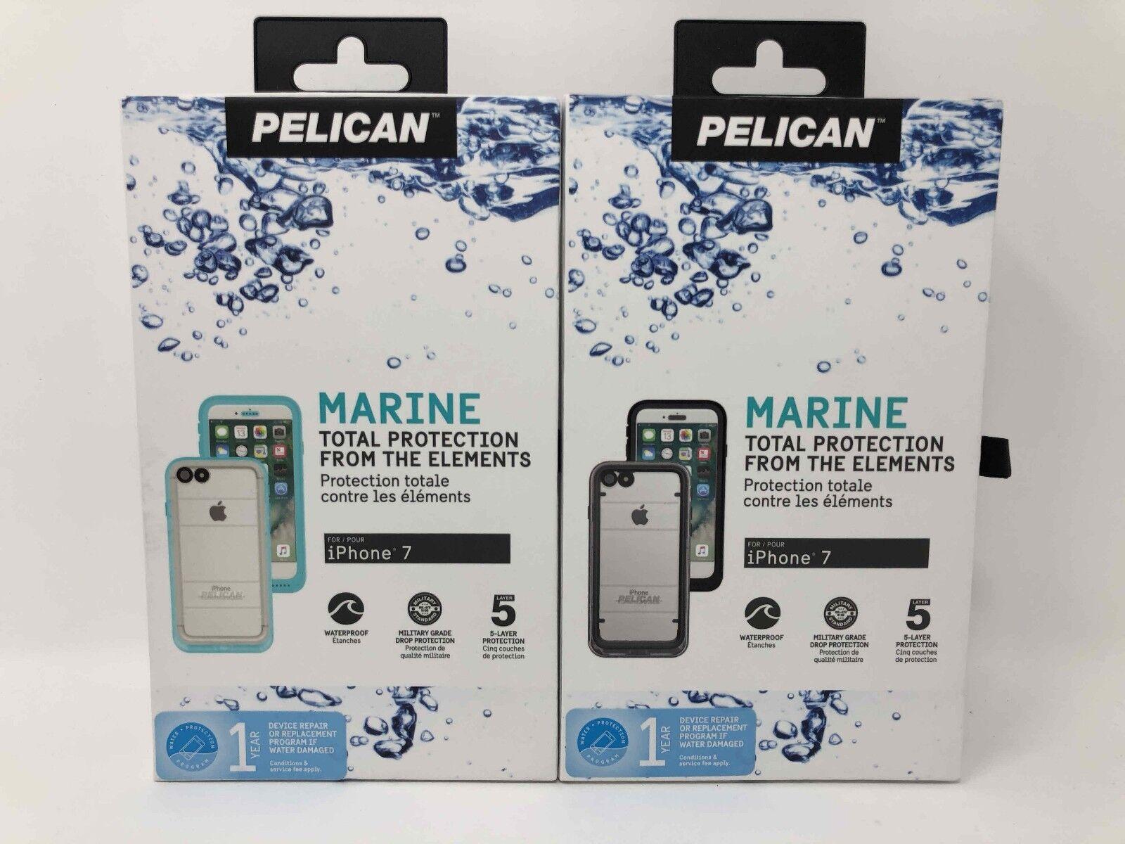 Pelican Marine IP68 Waterproof Case for iPhone 8 iPhone 7 Bl