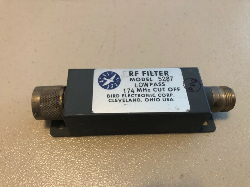 Bird Electronic Corporation Model 5287 VHF Low Pass Filter, USED
