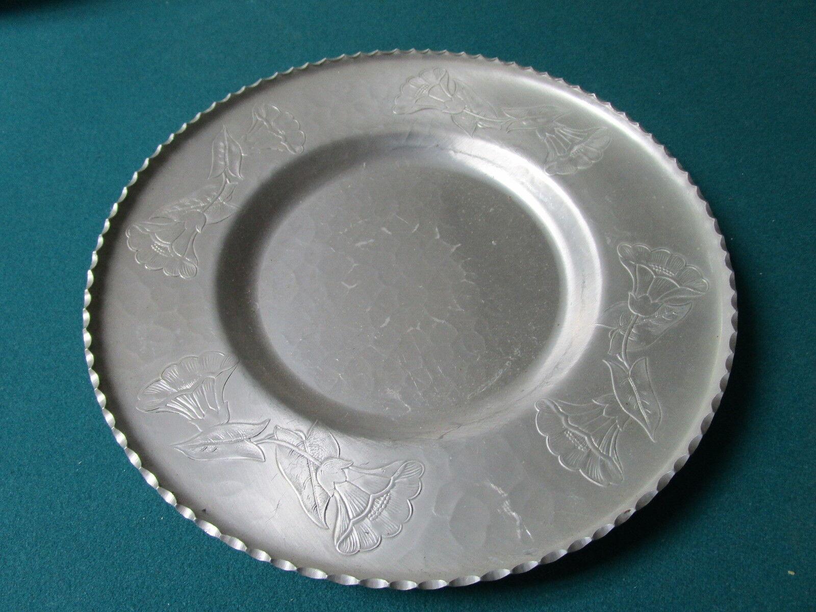 Wrought Farberware Brooklyn Ny Aluminum Platter 11 1 2