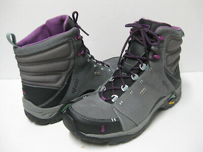 AHNU MONTARA WOMEN HIKING BOOTS LEATHER DARK GREY US 5 /UK 3