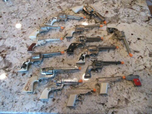 Mixed Lot Of 15 Vintage Toy Cap Gun Parts Or Repair Lot Hubley & More