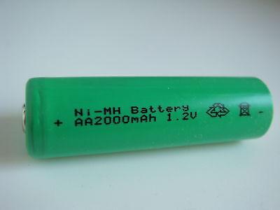Akku Mignon AA Ni-MH 2000mAh 1,2V für SOLAR-Leuchten Lampen LED Lichterketten   Aa Solar Akku