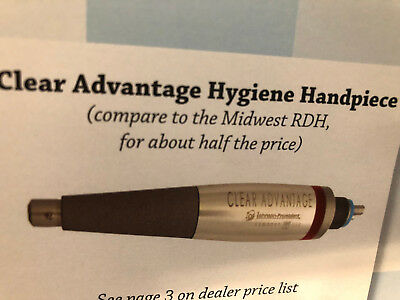 Dental Hygiene Handpiece Jp Clear Advantage-compare To Midwest Rdh-1 Yr Warranty