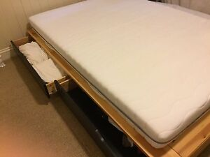 Double bed with drawers/divan + latex mattress IKEA Nundah Brisbane North East Preview