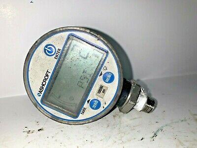 Ashcroft Digital Pressure Gauge 0-10000 Psi W Backlight Steel Socket