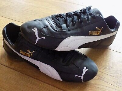 GREAT CONDITION BLACK LEATHER  PUMA SPEED CAT TRAINER DRIVING MOTORSPORT UK 10