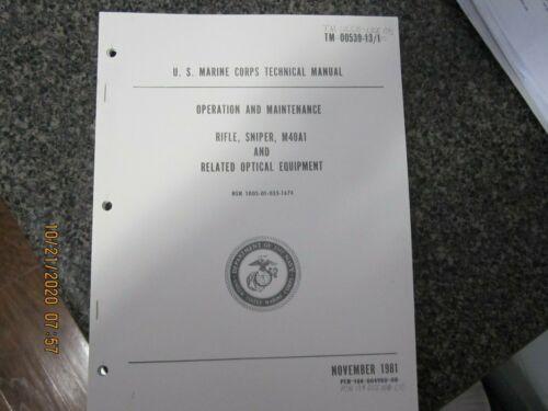 USMC TM 0539-13/1 change M40A1 UNERTL SNIPER SCOPE