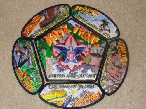 Boy Scout Knox Trail Massachusetts Council 2013 National Jamboree JSP Patch Set