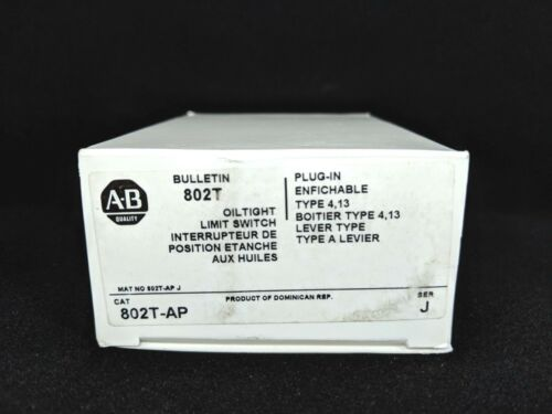 ALLEN BRADLEY 802T-AP Limit Switch, NEMA Type 4 and 13 Oiltight Construction