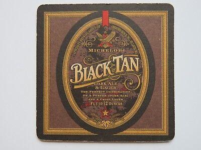 BEER COASTER ~ ImBev A-B MICHELOB Brewing Black & Tan ~ Dark Ale & Crisp Lager segunda mano  Embacar hacia Argentina