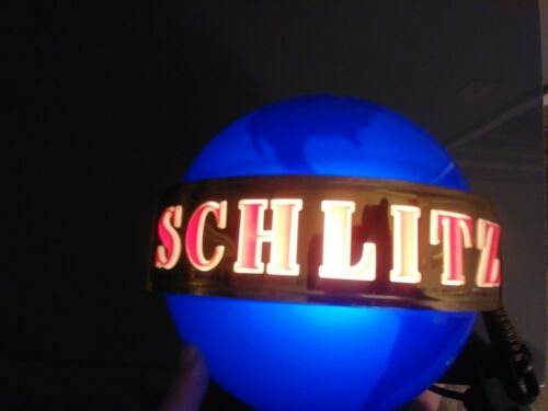 Schlitz beer sign 1964 motion globe spinning wall sconce light lighted bar spin