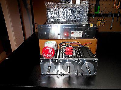 Gecko G540 3 Nema 23 600oz 14in Shaft 48v 12.5a 3 300v 80c Motor Cables