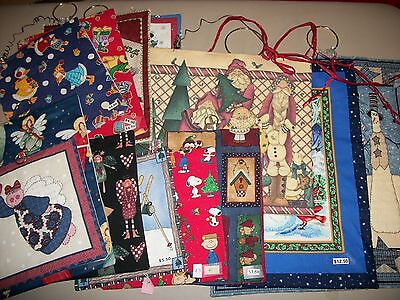 13 Assorted Christmas/holiday wall hangings w/snowmen/santa/angels/etc!   * ()
