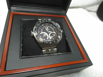 TAG HEUER SLR CALIBRE S BLACK DIAL STAINLESS STEEL WATCH CAG7010 MERCEDES BENZ