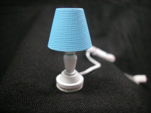 Heidi Ott Dollhouse Miniature 1:12 Scale Light Blue Table Lamp #YL1021