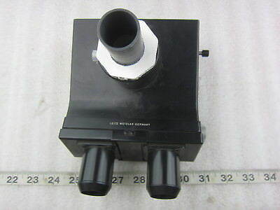 Ernst Leitz Gmbh Wetzlar 302-045.093 Microscope Trinocular Head Part Used