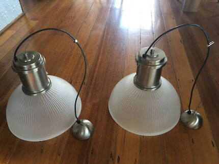 Dome pendant light x2