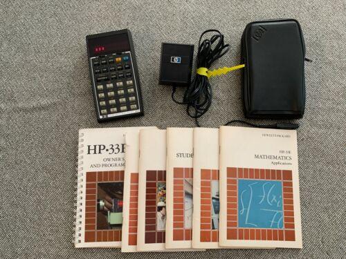 HP 33C Scientific Calculator w/ Adaptor, Case & Battery - Fully functional
