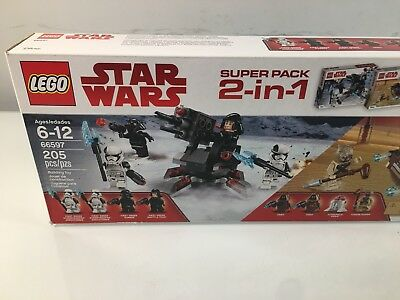 LEGO Star Wars 66597 Super Battle Pack 2 in 1* FACTORY SEALED* FREE US SHIPPING*