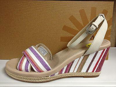 Ugg Australia Nyssa Womens Open Peep Toe Platforms Sandals Wedges High Heels