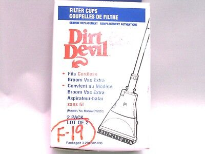 Dirt Devil Filter F19 F-19 3201082000 Cordless Broom Vac Model BV2010 Dirt Devil Cordless Broom Vac