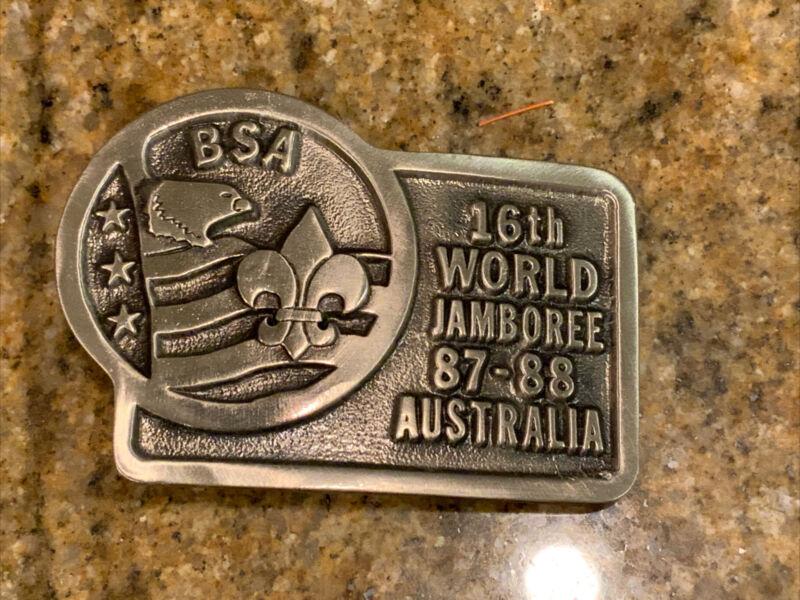 Boy Scout BSA 16th World Jamboree 1987-1988 Australia Belt Buckle New/numbered