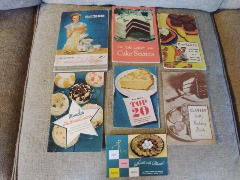 Vintage Cook Booklets Lot of 7 Assorted 1934-1948 Some Unmarked