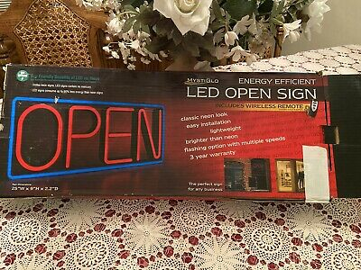 Mystiglo Led Illuminated Store Open Sign