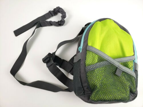 Munchkin Brica by-My-Side Safety Harness Backpack, Green/Grey Green/Blue