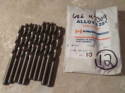 10 Cleveland Twist 7.20mm Metric 7.2mm Jobber Length Cobalt Drills 7.20 7.2 Mm